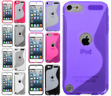 For iPod Touch 6 6th Gen TPU Gummy S-Line Flexi Skin Cover S-Shape +Screen Guard