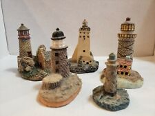 Lot Of 5 Miniature Light Houses Resin