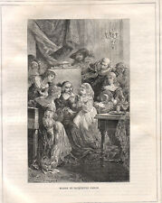 Blaise e Jacqueline Pascal  1883  xilografia