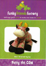 Patty the Cow, Soft Toy Pattern by Funky Friends Factory Machine or Hand Sewable