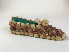 Vintage Shoe Slipper Moccasin SeaShell Figurine Shell Design