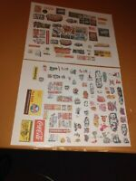 HUGE MIXED LOT# OF HO SCALE TRAIN SIGNS ON paper 2 SETS