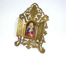 Reiseikone Reisealtar um 1900 feine Malerei Maria mit Jesus
