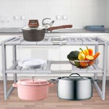Retractable Spice Rack Chrome Kitchen Organizer Storage Shelf Cabinet Holder AU