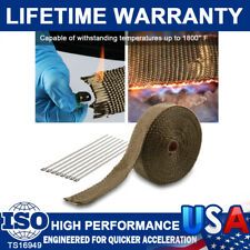 "2"" x 50feet Titanium Manifold Exhaust Wrap Header Pipe Heat Insulation Tape Mesh"
