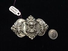Victorian Antique Sterling Silver Goddess Belt Buckle