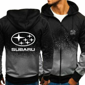 Newest Subaru Zip Up Hoodie Classic Hooded Sweatshirt Jacket Coat Top Tops