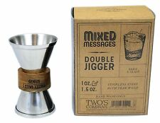 Stainless Steel Double Sided Jigger Liquor Cocktail Measure ~ Smart / Genius
