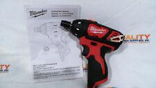 "New Milwaukee 2401-20 M12 12V Li-Ion Cordless 1/4"" Hex Screwdriver - Bare Tool"