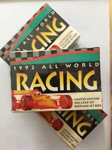 3 X 1992 All World Racing Sealed Box Sets Limited Ed, Andretti