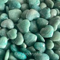 5pcs Natural Amazonite Specimen Crystal Love Heart Reiki  healing 100g+