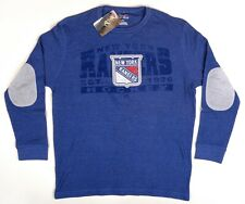 NWT Mens Sz Large New York Rangers Majestic Brawl Thermal Embroidered Sweatshirt