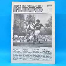 DDR FuWo Fussballwoche 29/1985 OL-Statistik III Carl Zeiss Jena Vor. Frankfurt B