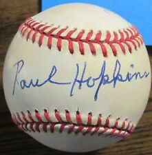 Paul Hopkins (Limited13 of 59) signed baseball-give-up Babe Ruth's 59th HR 1927