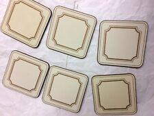 "Pimpernel Set of 6 Place Cream  Mats 4.2"" x 4.2"""