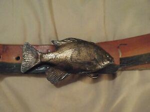 Bergamot Brass Works Bluegill Belt Buckle-1976-Fishing-LOOK