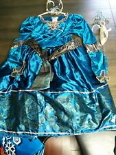 Disney Parks Princess Brave- Merida Gown Costume+ Tiara+ Wand Halloween
