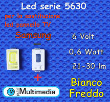 10 Led 5630 per retroilluminazione TV Samsung 6,0V 0,6W  21-30Lm