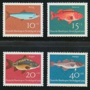 Germany 1964 MNH Mi 412-415 Sc B396-B399 Fish.Fishes **