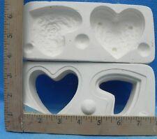 Tiny Heart W/ Roses Pill / Ring Box Duncan No. 973a Ceramic Mold