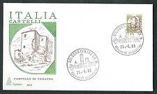 1983 ITALIA FDC CAPITOLIUM - CASTELLO BOBINA 400 £ - NO TIMBRO ARRIVO - IT7