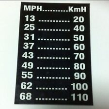 Speedo Mph To Kph Conversion Chart Dash Magnetic Fx Fj Eh Vintage Holden Ford GT