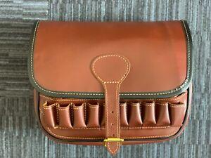 Cartridge Bag Hand Stitched Leather Shotgun Bag Store up to 125 Ammunition