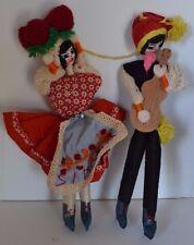 Vintage Portugal Doll String Man Woman Souvenir Pair