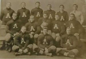 """Circa 1900, Football Team Real Photo Postcard with Team """"A"""" on the Sweaters"""