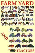Corral & tractores, Pes diseños de máquina de bordar CD
