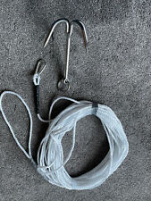 Grapple Hook 240mm 960g Stainless Steel Mooring Climbing Survival With Rope .