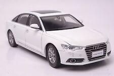 Audi A6L 2012 car model in scale 1:18 white