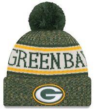 a7bdb0719 NFL NEW ERA GREEN BAY PACKERS TEAM WINTER KNIT BOBBLE BEANIE HAT