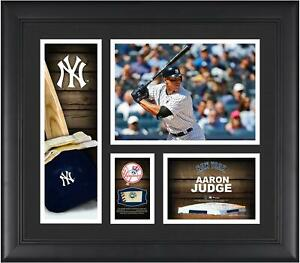 Aaron Judge NY Yankees Framed 15x17 Collage w/ a Piece of Game-Used Baseball