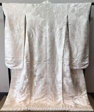 Japanese vintage antique White Wedding KIMONO UCHIKAKE SHIROMUKU KAIOKE ShellBox