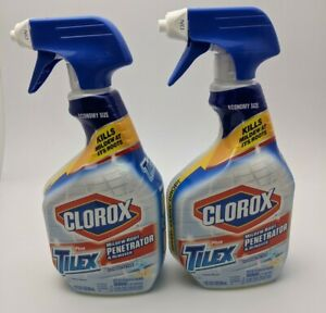 2 Clorox Tilex Mold and Mildew Remover Cleaner Spray 32 oz each