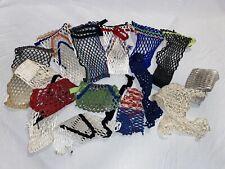 Lot/Bundle Lacrosse Pocket Stringing Pieces And Accessories