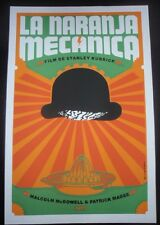 Rare Cuban CLOCKWORK ORANGE Silkscreen Movie Tribute Poster / Cuba Pop Art Gem