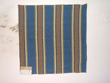 """Highland Court """"Massai"""" tribal textured stripe fabric remnant, color blueberry"""