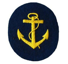 Kriegsmarine Boatswain NCO Trade Badge - WW2 Repro Patch German Navy Anchor New