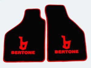 Fiat X1/9 Bertone Tapis de sol en velours noir/rouge
