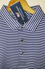 Vineyard Vine Performance Golf Polo Shirt Mens XL NWT Grey & Navy Blue