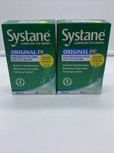 Systane Lubricant Eye Drops Lot of 2pk 30 vialsPreservative Free Vials Exp12/21
