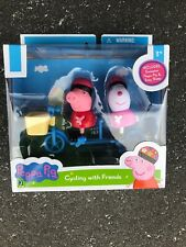 """NEW Sealed Peppa Pig 3"""" Mini Figure 2-Pack Cycling With Friends Playset Toy"""