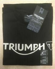Triumph Motorcycles Mens Logo Tee T-Shirt Size Large or 2XL MTSS19004 BNWT Black