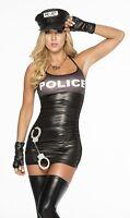 ÉROTIQUE DÉGUISEMENT POLICIÈRE POLICE LINGERIE SEXY WETLOOK COSTUME POUR FEMME
