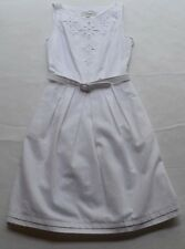 NWT L.K. Bennett London Livia Optic White Lined Belted Pleated Dress Size 2 $395