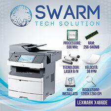 Stampante Multifunzione Lexmark x464 / X466de Scanner Fotocopiatrice DUPLEX B/N