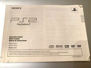 Original Sony Playstation 2 PS2 Console System Manual Instruction Booklet