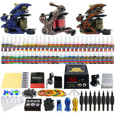 Solong Tattoo Complete Tattoo Kit 3 Guns Set 54 Inks Power Supply Needles TK353